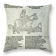 Chaucer: Prologue Throw Pillow