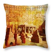 Chaukhandi Tombs Throw Pillow by Catf