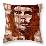 Che Guevara Digital From Watercolor Painting Throw Pillow
