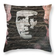Che Guevara Wall Art In China Throw Pillow