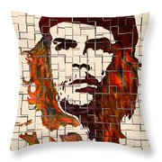 Che Guevara Watercolor Painting Throw Pillow