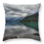 Cheakamus Lake Reflections Throw Pillow