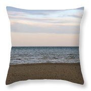 Cheboygan Pier Throw Pillow