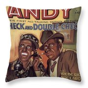Check And Double Check  Throw Pillow