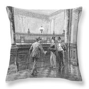 Check Forger, 1890 Throw Pillow