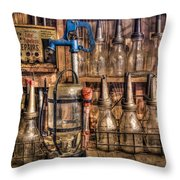 Check Your Oil Throw Pillow
