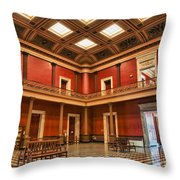 Checked Room Throw Pillow
