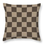 Checkerboard Pattern Fractal Flame Throw Pillow by Keith Webber Jr