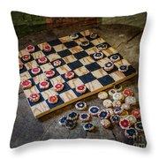 Checkers Throw Pillow