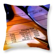 Checking Account Statement Throw Pillow