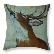 Checking Scent Limb Throw Pillow