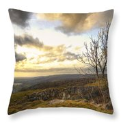 Cheddar Gorge Throw Pillow