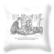 Cheer Up, Nicole!  What Does Princeton Know? Throw Pillow