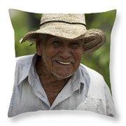 Cheerful Character Throw Pillow by Heiko Koehrer-Wagner
