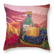 Chees And Bluberries Throw Pillow