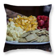 Cheese And Strawberries Throw Pillow