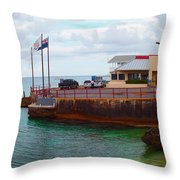 Cheese Burger In Paradise Throw Pillow