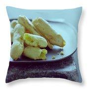 Cheese Puffs Throw Pillow