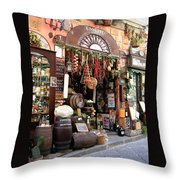 Cheese Salami And Wine Throw Pillow
