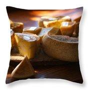 Cheese Selection Throw Pillow