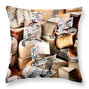Cheese Shop Throw Pillow