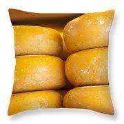 Cheese Wheels Throw Pillow