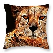 Cheetah Artwork Throw Pillow