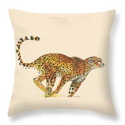 Cheetah Painting Throw Pillow by Lisa Bentley