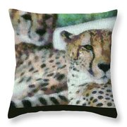 Cheetah Portrait Throw Pillow