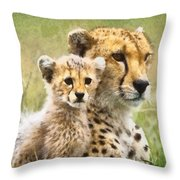Cheetah Two Throw Pillow