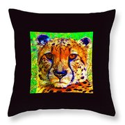 Face Of The Cheetah Throw Pillow