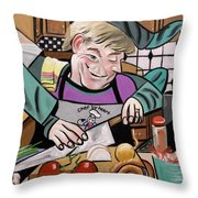 Chef With Heart Throw Pillow