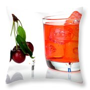 Chefs Making Cherry Juice Little People On Food Throw Pillow