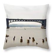 Chehalis River Aberdeen Wa Throw Pillow