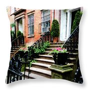 Chelsea Brownstone Throw Pillow
