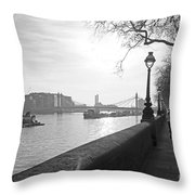 Chelsea Embankment London Uk 3 Throw Pillow