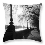Chelsea Embankment London Uk 5 Throw Pillow