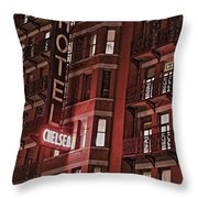 Chelsea Hotel Throw Pillow
