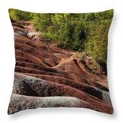 Mars On Earth - Cheltenham Badlands Ontario Canada Throw Pillow