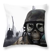 Chemical Landscape Throw Pillow