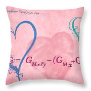 Chemical Thermodynamic Equation For Love 2 Throw Pillow