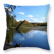 Chena River Throw Pillow