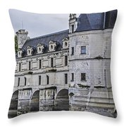 Chenonceau And River Cher Throw Pillow