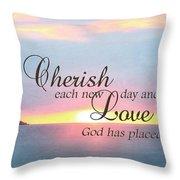 Cherish Love Throw Pillow by Lori Deiter