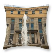 Cherokee County Courthouse 3 Throw Pillow