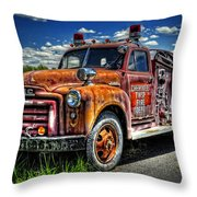 Cherokee Fire Truck Throw Pillow