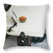 Cherries And Reflector Throw Pillow