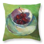 Cherries In A Cup #2 Throw Pillow