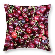 Cherries In Des Moines Washington Throw Pillow