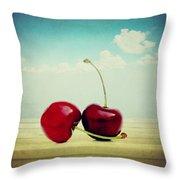 Cherries Love Throw Pillow